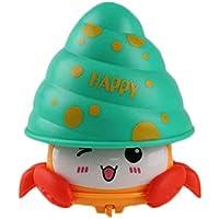 Vosarea Cangrejo de presión Colorido Niños pequeños Juguete Bebé Cangrejo Muñeca Cool Toy Lindo (Amarillo)