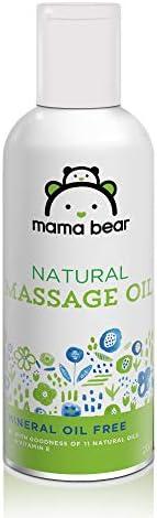 Amazon Brand - Mama Bear Natural Baby Massage Oil - 200 ml