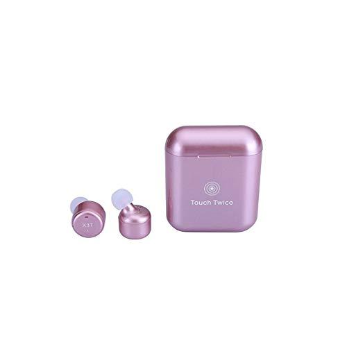 Glowjoy X3T Bluetooth Kopfhörer,V4.2 Bluetooth Kopfhörer in Ear Kabellos Sport Ohrhörer, Wireless Earbuds CVC6.0 Aktiver Geräuschunterdrückung Kabellose Kopfhoerer mit Mikrofon und Ladebox (Rosa) (Wireless Rosa Earbuds)