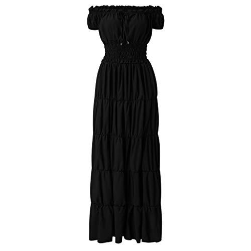 RYTEJFES Victorian Gothic Dress Nightgown Ladies Medieval Renaissance Costume Halloween Cosplay Kostüm Maxikleid Sexy Trägerlose Schulter (Lady Frankenstein Kostüm)
