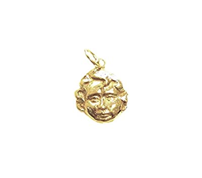 Cupid's Pendant 24kt Pure Gold Plated Silver 925 Handmade