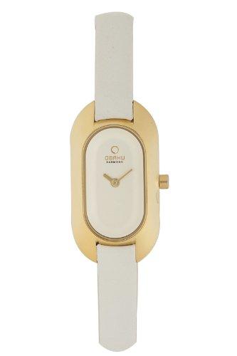Obaku Harmony - V136L GIRW - Montre Femme - Quartz - Analogique - Bracelet cuir Blanc