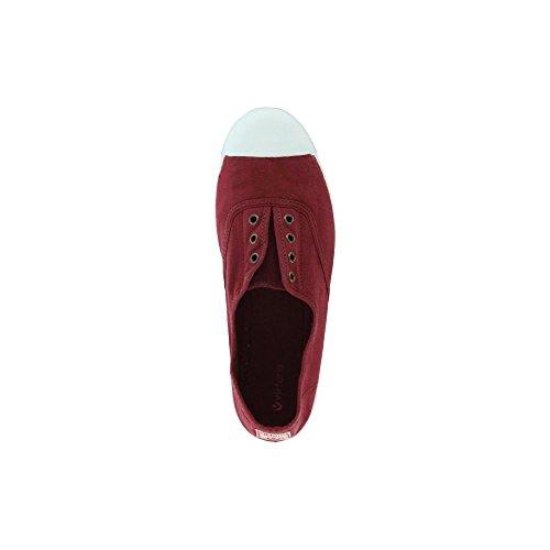 Victoria Inglesa Elastico Tenido Punt Damen Sneaker Burgunderrot