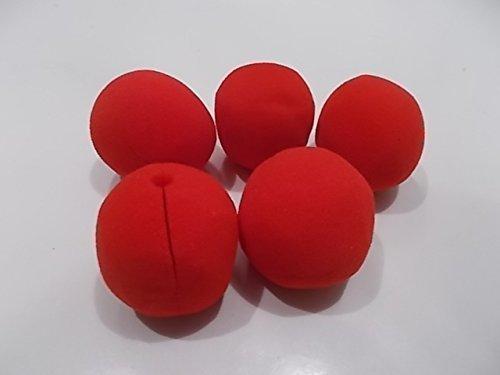 10 x Clown Nasen rot 5 cm für einen Erwachsenen oder Kind