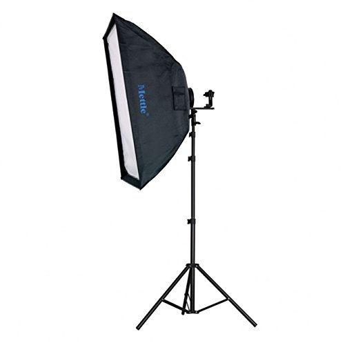 METTLE Systemblitz-Halter Set XT 2 mit Softbox 60x90 cm & Stativ 240 cm