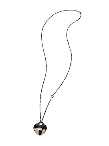 Gioiello breil collezione kilos of love, collana da donna in acciaio colore silver misura 80cm - tj2736
