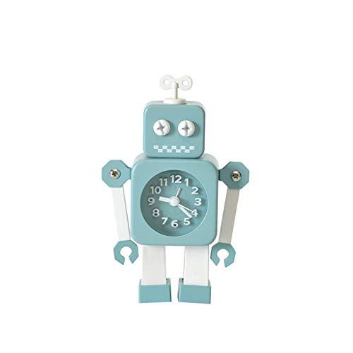 JiuErDP Kinder-Roboter-Wecker, niedlicher Wecker des Schlafzimmers der kreativen Studentenkinder