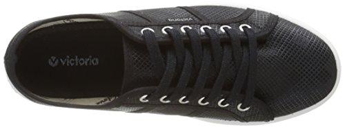 Victoria Basket Cuadros Brillo Plataforma, Baskets Basses mixte adulte Noir (10 Negro)