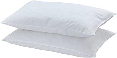 AmazonBasics 100% Cotton Soft Pillow Case with Zip, X x X cm, 2/4pcs