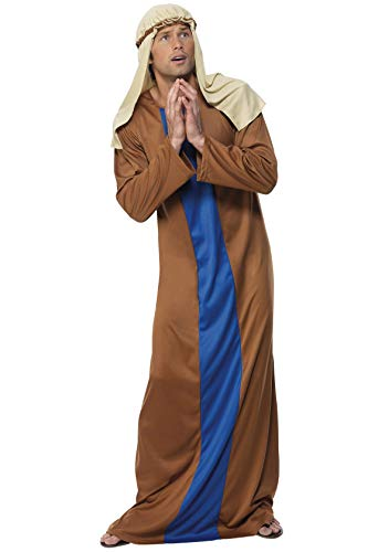 Smiffys Herren Josef Kostüm, Robe und Kopfbedeckung, Größe: M, 3128