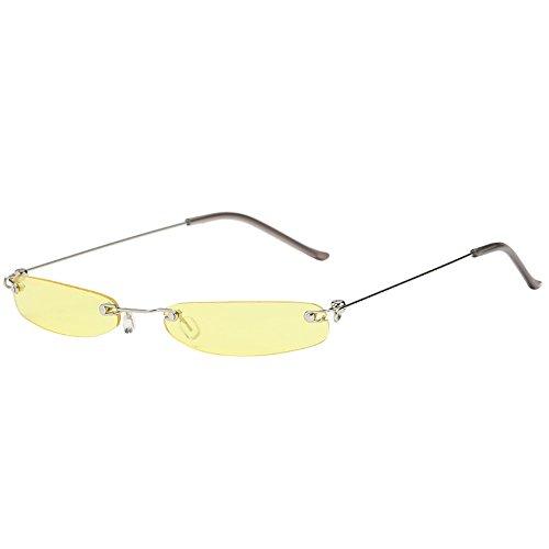 297af3047 MERICAL Le donne uomo Vintage trasparente Piccola Struttura retro occhiali  da sole Eyewear Fashion