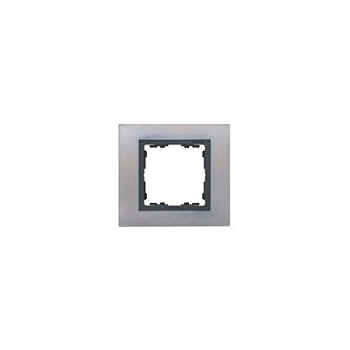 Simon - 82817-37 marco 1 elemento s82 nature metal acero inox. Ref....