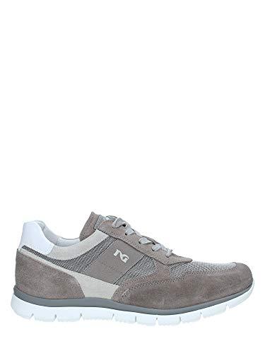 Nero giardini p900840u/106 sneakers scarpe sportive uomo lacci stringhe zip fumo (41 eu)