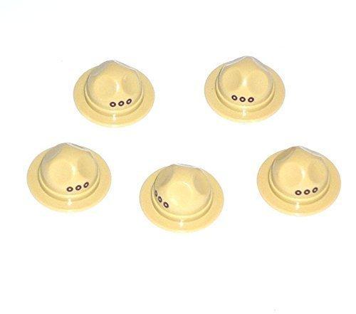 5 Custom Ranger Hüte Mützen für LEGO® Figuren mit Aufdruck tan Brick Forge