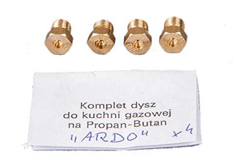 Kit d'injecteurs Injecteurs Gaz Butane / Propane GPL pour Cuisiniere - ARDO