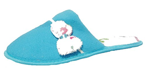 Donne Ragazze Jyoti Comodo Invernale Casual Ciabatte Slip-on Blu