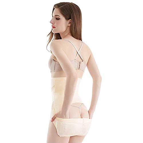 Biddtle Damen Miederslip Figurenformend Miederhose Offen Push-Up Taillenslip Sexy Shapewear Bauch-Weg Taillenformer,Beige,M - 4