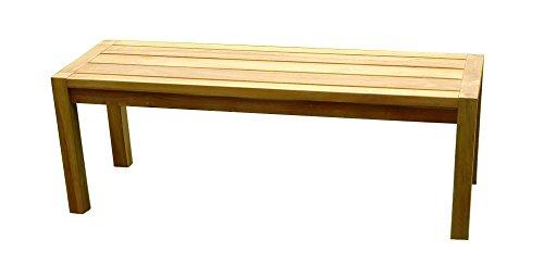 SAM® Teak-Holz Gartenbank, massive Sitzmöglichkeit für bis zu 2 Personen, ideal für Garten Terrasse Balkon oder Wintergarten, ca. 120 x 45 cm [521213]