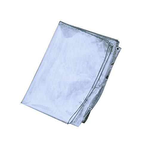 Planen Transparent Plane Klare Hochleistungs-wasserdichte Planenabdeckungs-Transparenz-weiche Plastikplane Mit Ösen 450g / M² Abdeckplane Gewebeplane Schutzplane Gartenmöb -