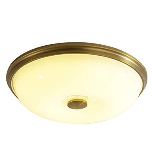 D/n Flush (CUICANH Glas Runde Deckenleuchte, Amerikanischen Retro Land LED Deckenlampe Schlafzimmer Wohnzimmer Flush mount deckenbeleuchtung-Gold-D 54x12cm(21x5inch))