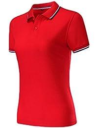 ZKOO Mujer Polos Camisas de Polo Algodón Manga Corta de la Solapa Poloshirts Tee-shirt Blusa Tops Slim Fit