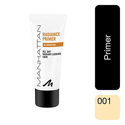 Manhattan Perlen (Manhattan Radiance Primer für längere Haltbarkeit des Make-Ups und einen strahlenden Teint, mit Vitamin C & E, 30 ml)