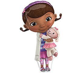 ONE (1) Doc McStuffins XL Happy Birthday PARTY balloons Decorations Supplies by Anagram (Doc Birthday Party Supplies Mcstuffins)