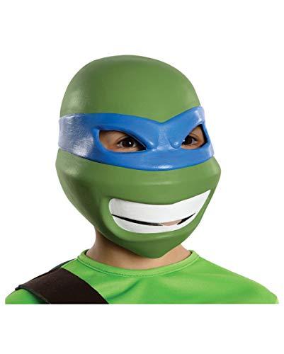 Horror-Shop TMNT Leonardo Kindermaske für Fasching & Kindergeburtstag (Teenage Mutant Ninja Turtles Augenmaske)