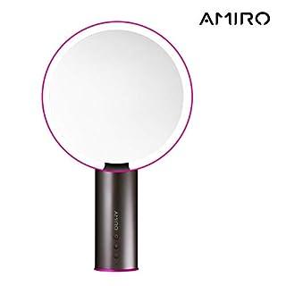 Amiro Makeup Vanity Mirror with Smart LED Light, Wireless Charging, Desktop, Fill Light, Brightness Adjustable, Home, Grooming