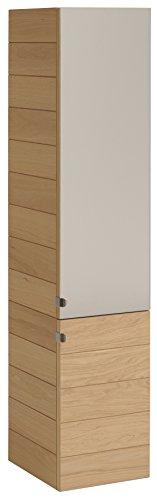 Eiche Glas Tür (Keo 783930Oslo Spalte mit 2Türen Eiche/Schilder E1/Glas Roasted Oak 33,5x 32x 140cm)
