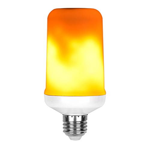 feuereffekt lampe UYTSXFH LED Flamme Birne E27 Feuereffekt Licht Atmosphäre Lichter Zu Hause Verzieren Feuer Lampe für Party Bar Garten Size 6 * 13,5 cm (gelb)