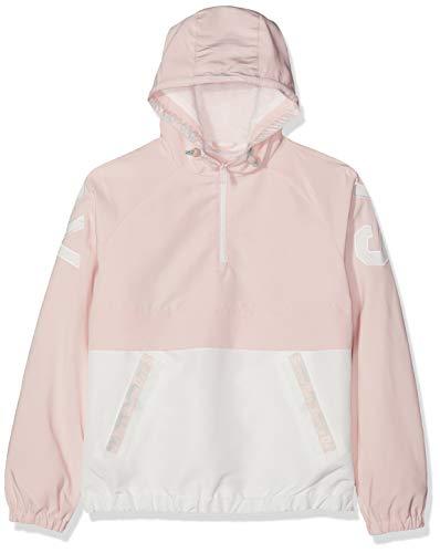 Superdry Damen Colour Block Overhead Jacke, Rosa (Rose Pink 14R), Large (Herstellergröße:14) -