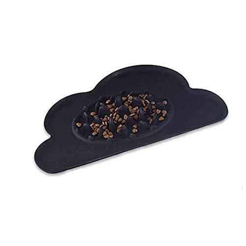 FJTHY Haustier Nahrung Schüssel Wolke Hund Katze Kakerlake Langsam Essen Geschenk Sicher Praktisch,schwarz,Einheitsgröße