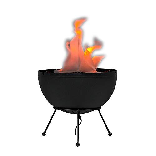 MiniSun – Künstliche Tischlampe mit einem Flackerlichteffekt aus Gewebe im Stil eines schönen Feuers mit einem Unterteil in Gestalt von einem Stativ – Tischleuchte