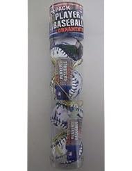 Joba Chamberlain Yankees MLB Player Baseball Ornement de Noëls 4 Pack
