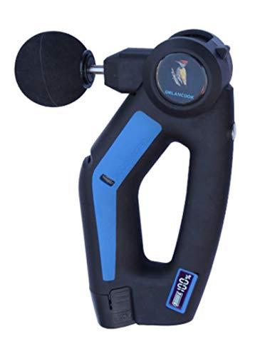 XOあ Xoo Masseur électrique à Main Massage Musculaire à tête arrière Portable Fitness Musculaire à détente Profonde Machine 4 Types de tête de Massage 12 V Batterie au Lithium