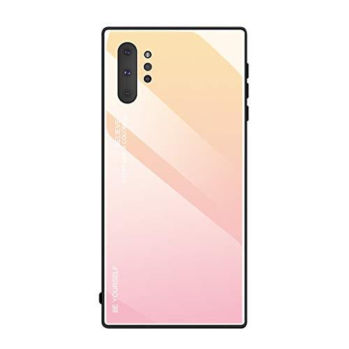 Siswong Für Samsung Galaxy Note10+ Bunte Glas Zurück TPU Soft Side Phone Case Abdeckung HandyhüLlen StoßFest SchutzhüLle Sturzprävention Soft-side Case