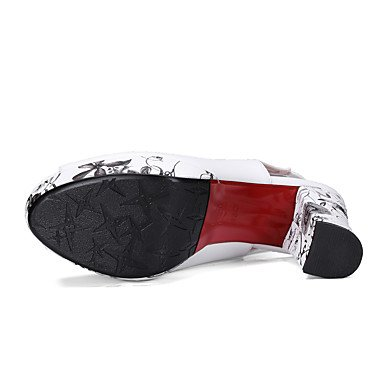 LvYuan Da donna-Sandali-Matrimonio Serata e festa-Comoda Club Shoes-Quadrato-PU (Poliuretano)-Nero Rosso Bianco Red