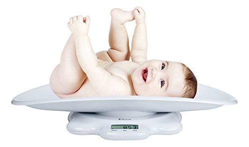 Audioline 904326 Elektronische Waage mit hoher Präzision für Babys und Kinder bis 50 KG