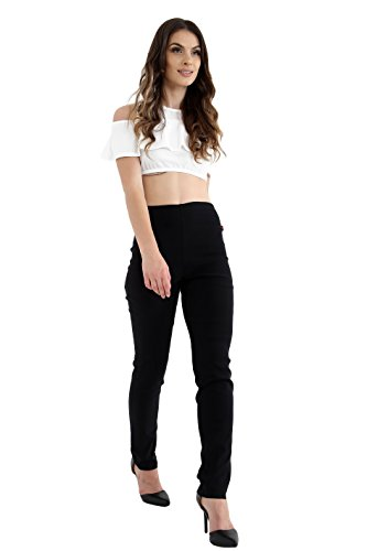 Womens High Waisted Skinny Fit Trousers