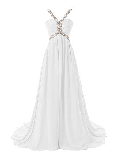 Dresstells Damen Abendkleid Ballkleid Lang Grecian Ausschnitt mit ...