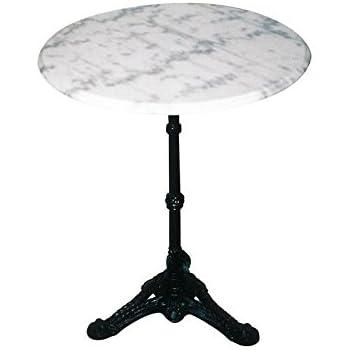 bistrotisch marmor gahalia gartentisch wei gusseisener. Black Bedroom Furniture Sets. Home Design Ideas