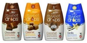SweetLeaf Gocce dolci aromatizzanti alla stevia con varietà di cioccolato caramello cocco vaniglia
