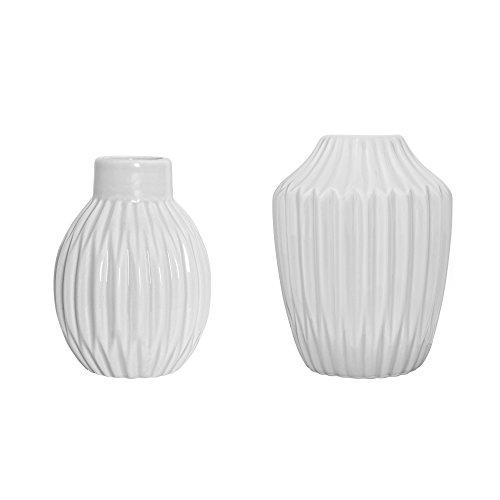 Vase Fluted (Bloomingville Vasen 2er Set)