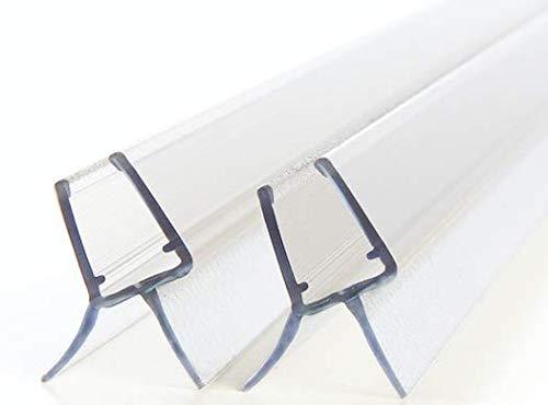 2x 80cm Premium Duschdichtung made in Germany, für 6mm / 7mm / 8mm Glasdicke - Langlebige Duschtür und Duschkabinen Dichtung- Dichtleiste Duschwand
