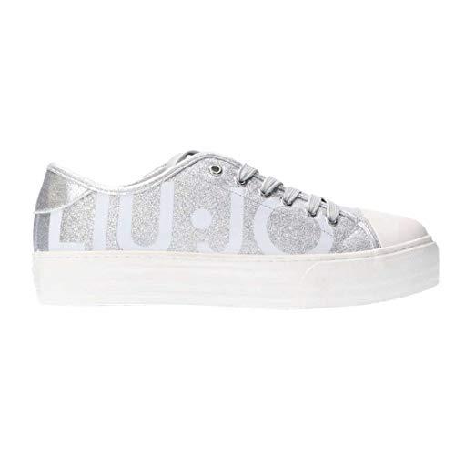 c2d1943513 Liu jo girl sneaker ragazza l3a4 20253 tessuto glitter maxi logo platform -  35 - argento