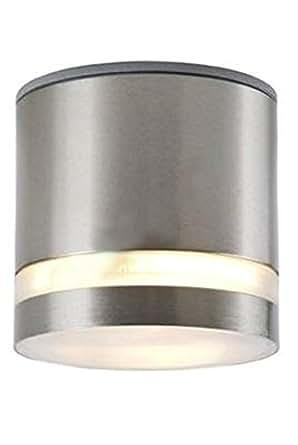 Lichtdiscount - Edelstahl GX53 LED 5 W satiniert warmweiss - Aufbauleuchte Lampe 230 V - IP44