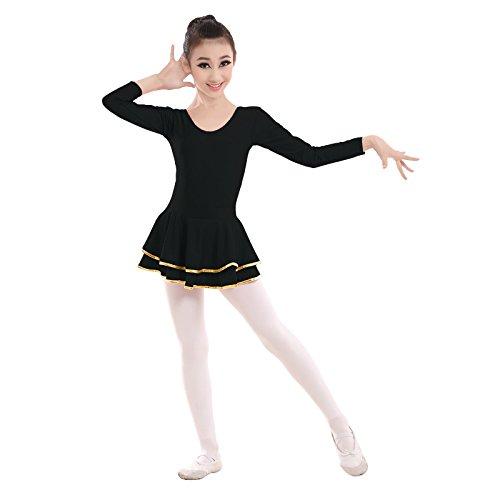 GBDSD Kinder Tanz Kleidung Latin Dance Kleid für Mädchen In Europa und Amerika im Herbst lange Ärmel einteiliges Kostüm Kleid , (Bauchtanz Europa Kostüme)