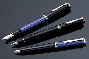 Pelikan Tintenroller Luxus Souverän Glühbirne R805, schwarz/blau