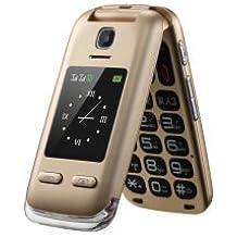 Obooy EG520, telefono cellulare GSM Senior sbloccato, con tasto SOS, compatibili con apparecchi acustici, facile da usare per gli anziani, oro